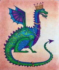 "175 Likes, 12 Comments - Petra (@polychromance) on Instagram: ""Dragon Queen   #ivyandtheinkybutterfly #johannabasford #staedtlerergosoft"""