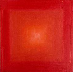 Jarmila Králová: 1. Červený čtverec - teplá aktivující barva