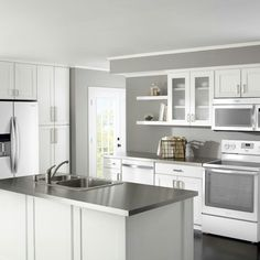 Love The White Cabinets And Appliances