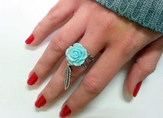 adjustable Victorian  Boho  filigree silver  Ring with by Arielior, $16.00