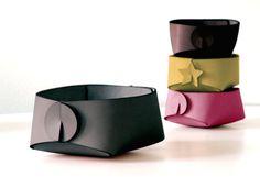 Custom color leather desk accessories - minimalist office organizer - small storage container