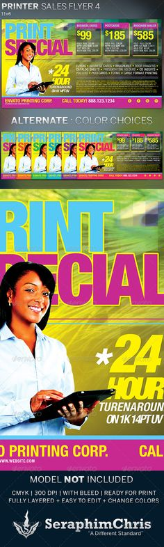 and print, artist price sheet, discount flyer template, flyer