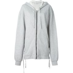 Faith Connexion Oversized Zip Hoodie ($597) ❤ liked on Polyvore featuring tops, hoodies, grey, cotton hooded sweatshirt, cotton zip hoodie, grey hooded sweatshirt, zip hoodie and sweatshirt hoodies
