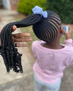 Little Girl Braid Styles, Little Girl Braid Hairstyles, Kid Braid Styles, Little Girl Braids, Braided Ponytail Hairstyles, Natural Hairstyles For Kids, Cute Girls Hairstyles, African Braids Hairstyles, Hair Twist Styles