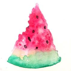 watermelon watercolour watermelon watercolor mazzoni says watermelon fruit food illustration