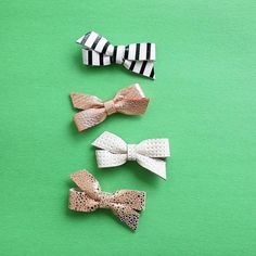 baby/girls leather hair bow set genuine leather baby bows baby/girls accessories by charliecocos