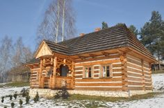 Polish country log house - new construction