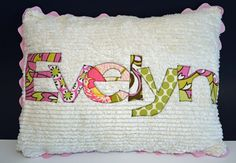 As many of you know, I make and give a lot of baby gifts. Way more than the average person. For most gifts, I embroider or applique something. Except for those pesky moms who keep the baby's name under wraps. Then I have to get creative. Since this post is more show and less tell – here's what I did. I used the same method for appliqueing the baby's name here. The only real trick to appliqueing a name is  {Read More}