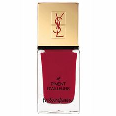 Bold, primary-coloured nails are back!  YSL 45 Piment D'Ailleurs Lacquer | Ageless Beauty Buys | Editors Choice | Red Online
