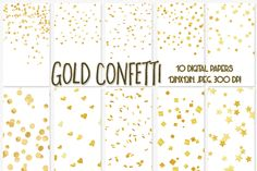 Gold Confetti digital paper