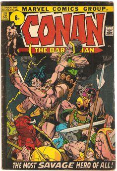 Conan The Barbarian. Vol. 1, No. 12. U.S. Marvel Comic. Dec. 1971.