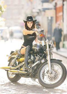 Bike girl.  Smile is good :)