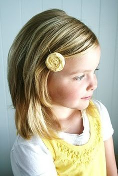 LITTLE LOU  Yellow rosette hair pin by lovestitched on Etsy. Cute and simple.