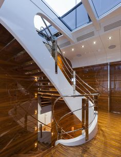 Interior Design Award at the recently held World Yacht Trophies in Luxury Yacht Interior, Boat Interior, Interior Design Awards, Best Interior Design, Nautical Home, Nautical Style, Nautical Lamps, Nautical Interior, Yacht Design