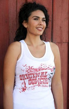 Original Cowgirl with Guitar Tank