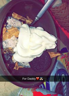 """The caption says """"for daddy"""" but my stomach says for me"""