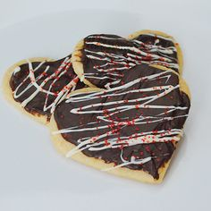 Chocolate-Frosted Heart Cookies from Real Mom Kitchen.