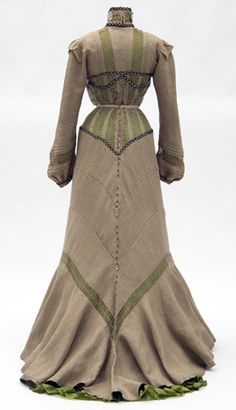 Day dress, 1901-02  From the Minnesota Historical Society  -Gorgeous, gorgeous lines.