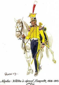Tromba delle Velites a cavallo del regno di Napoli