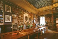 """The Thiers library, Paris, France Definitely belongs in """"library lust"""" category!  Great pins from pinner Ashley!  Thank you."""