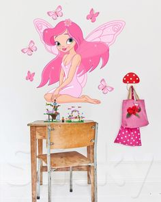 - Canvas Prints, Wall stickers, Wall murals, Home decoration and Kids Stickers, Wall Stickers, Fairy Tales For Kids, Butterfly Fairy, Wall Murals, Have Fun, Canvas Prints, Pixies, Children