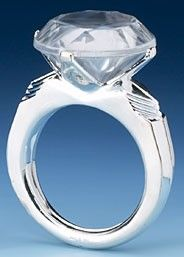Giant Engagement Ring Cake Topper Large Diamond Ring Paperweight