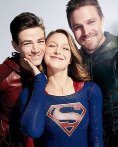 Discovered by My Shows. Find images and videos about arrow, the flash and grant gustin on We Heart It - the app to get lost in what you love. Supergirl Tv, Supergirl And Flash, Concessão Gustin, Series Dc, Flash Funny, Super Heroine, Superhero Shows, The Flash Grant Gustin, Univers Dc