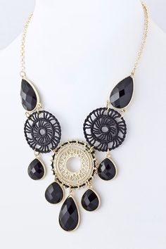 https://www.krisandkate.com/dealoftheday.html  $26  #Black and gold necklace