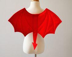 Children's Devil Halloween Wings, Halloween Costume, Red Felt, Tail, Quality UK Handmade, Fancy Dress Costume, Kids, Toddlers, Boys, Girls - Edit Listing - Etsy