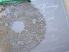Laser cut ornament with Holiday card - #laserengraving