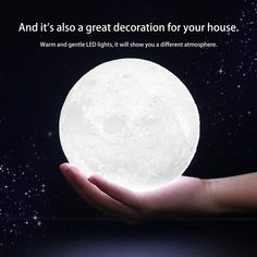US$12.97  <Feb only, 15% - 95% off> 3D Magical Moon LED Night Light Moonlight Desk Lamp USB Rechargeable 3 Light Colors Stepless for Home Decoration Christmas decor * Click the VISIT button to find out more on  AliExpress.com. #IndoorLighting