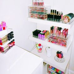 Organized makeup storage