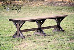 DIY Bench – Farmhouse Style  Like the table!
