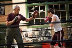 Clint Eastwood and Hilary Swank in Million Dollar Baby, Clint Eastwood, 2004