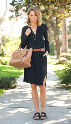 Street style look com chemise