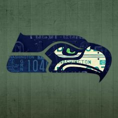 Mixed Media - Seattle Seahawks Football Team Retro Logo Washington State License Plate Art by Design Turnpike , Seahawks Fans, Seahawks Football, Football Fans, Seattle Sounders, Seattle Mariners, Seattle Seahawks, Uw Huskies, License Plate Art, Mls Soccer