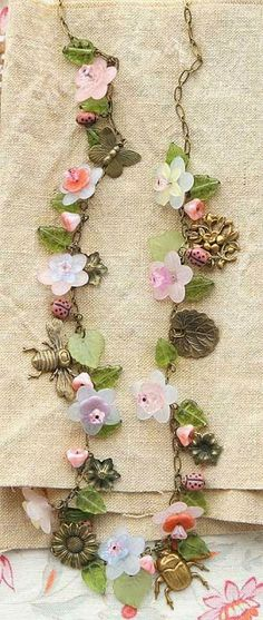 The Art Of Craft Class- Vintage Fleur necklace by Kaari Meng