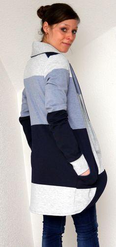 Ebook Cardigan Lovisa in zwei Längen Pinterest Blog, Couture, Free Design, Hooded Jacket, Baby, Sewing, Coat, Inspiration, Passion