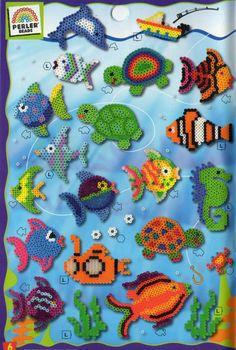 Underwater perler beads
