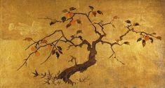 Japanese Painting Antique Bozzetto for Folding Screen Byobu C 1900 Late Meiji Japanese Painting, Japanese Art, Japanese Sliding Doors, Asian Landscape, Japanese Screen, Tinta China, China Painting, Art Techniques, Chinoiserie