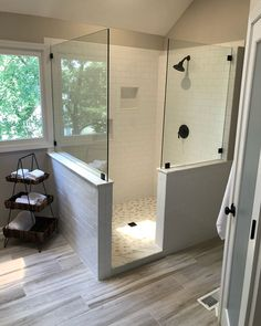 Downstairs bathroom small full bathroom, paint colors for home, paint firep Diy Bathroom Remodel, Bathroom Ideas, Master Shower, Small Bathroom Storage, Downstairs Bathroom, Master Bathroom, Paint Colors For Home, Hospitality Design, Beautiful Bathrooms