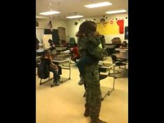 Daughter Runs Hysterically Into Military Father's Arms
