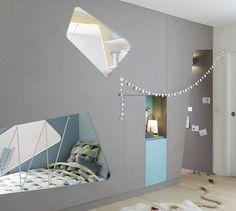 Una habitación doble separada por una litera muy especial | DecoPeques