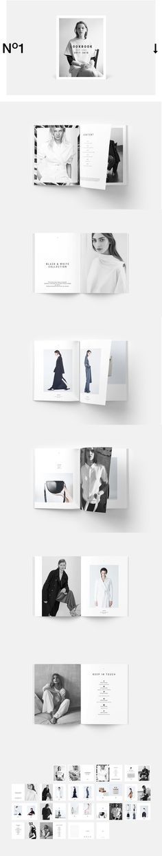 #Freebies : #Fashion Lookbook template is clean, modern and professional with strong #typography make your #lookbook look professional. ( #print #design #photography #catalog #branding )