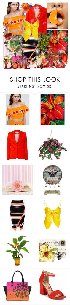 """Mood"" by cohan ❤ liked on Polyvore featuring ASOS, Veronica Beard, Nearly Natural, Retrò, Ted Baker, Leal Daccarett, Sam Edelman, Revlon, Once Upon a Time and Clips"