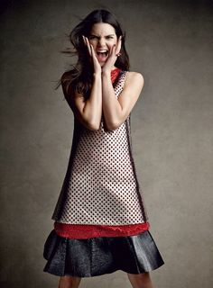 Kendall Jenner for Vogue I love the dress tre cute! =)