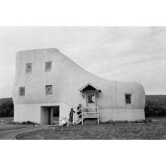 USA Pennsylvania strange shoe house near York built by eccentric shoe manufacturer Haines Canvas Art - (18 x 24)