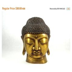 Vintage Bronze Meditating Buddha Sculpture ($68) ❤ liked on Polyvore featuring home and home decor