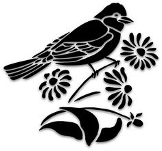 Bird silhouette design 18 new Ideas Bird Silhouette Art, Silhouette Images, Silhouette Design, Easy Drawings Sketches, Bird Drawings, Bird Stencil, Stencil Art, Stencil Patterns, Stencil Designs