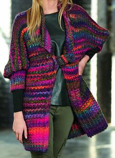 Free Knitting Pattern for Quick Katia Jacket